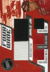 2006 Press Pass Four Wide Checkered Flag #FWDE Dale Earnhardt Jr.