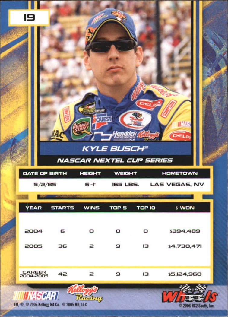 2006 Wheels High Gear #19 Kyle Busch back image