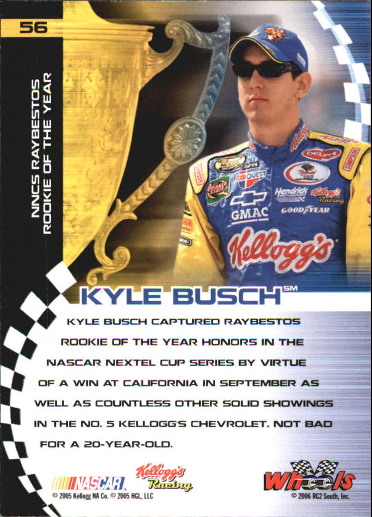 2006 Wheels High Gear #56 Kyle Busch NA back image