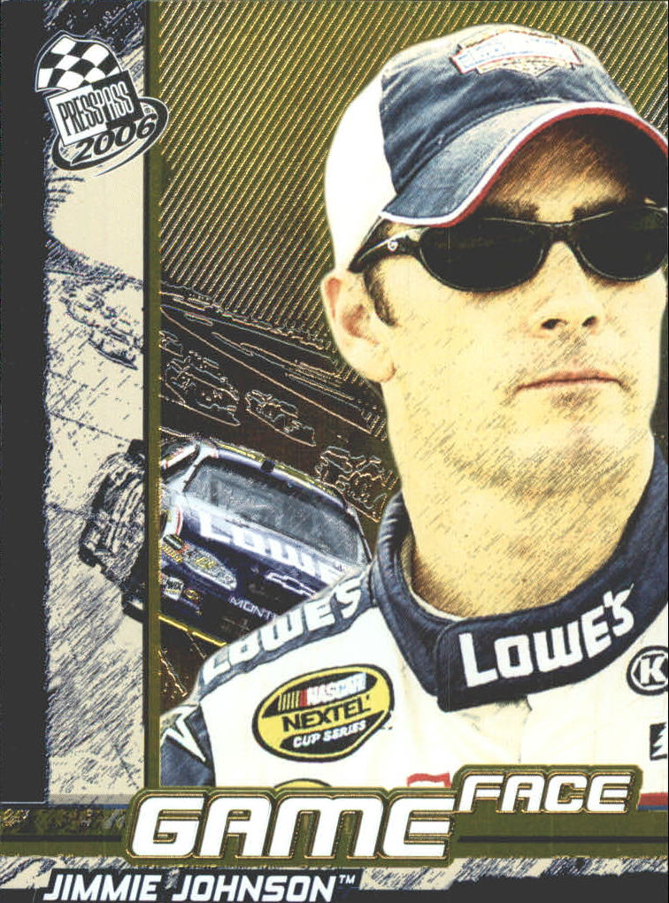 2006 Press Pass Game Face #GF6 Jimmie Johnson