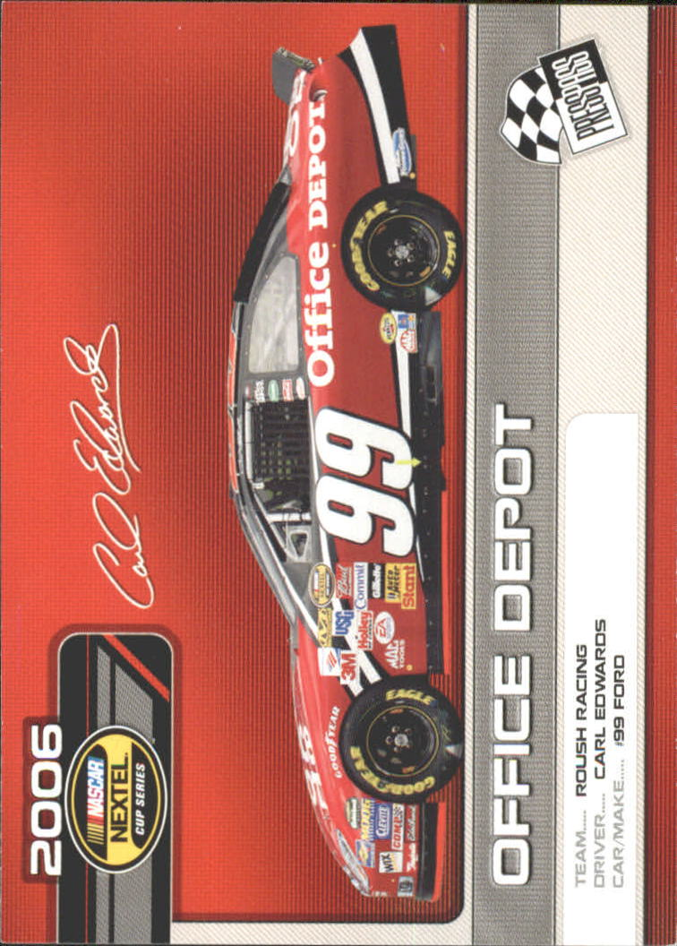 2006 Press Pass Top 25 Drivers & Rides #C25 Carl Edwards' Car