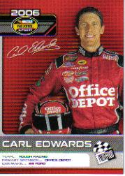 2006 Press Pass Top 25 Drivers & Rides #D25 Carl Edwards