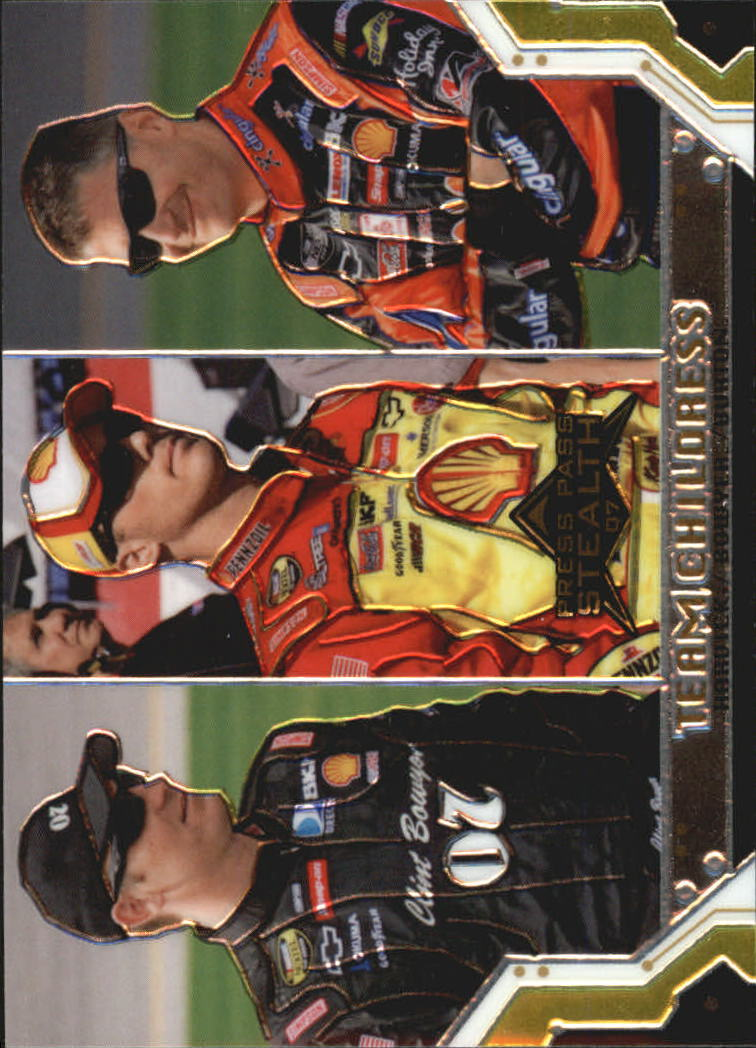 2007 Press Pass Stealth Chrome #64 Clint Bowyer/Kevin Harvick/Jeff Burton