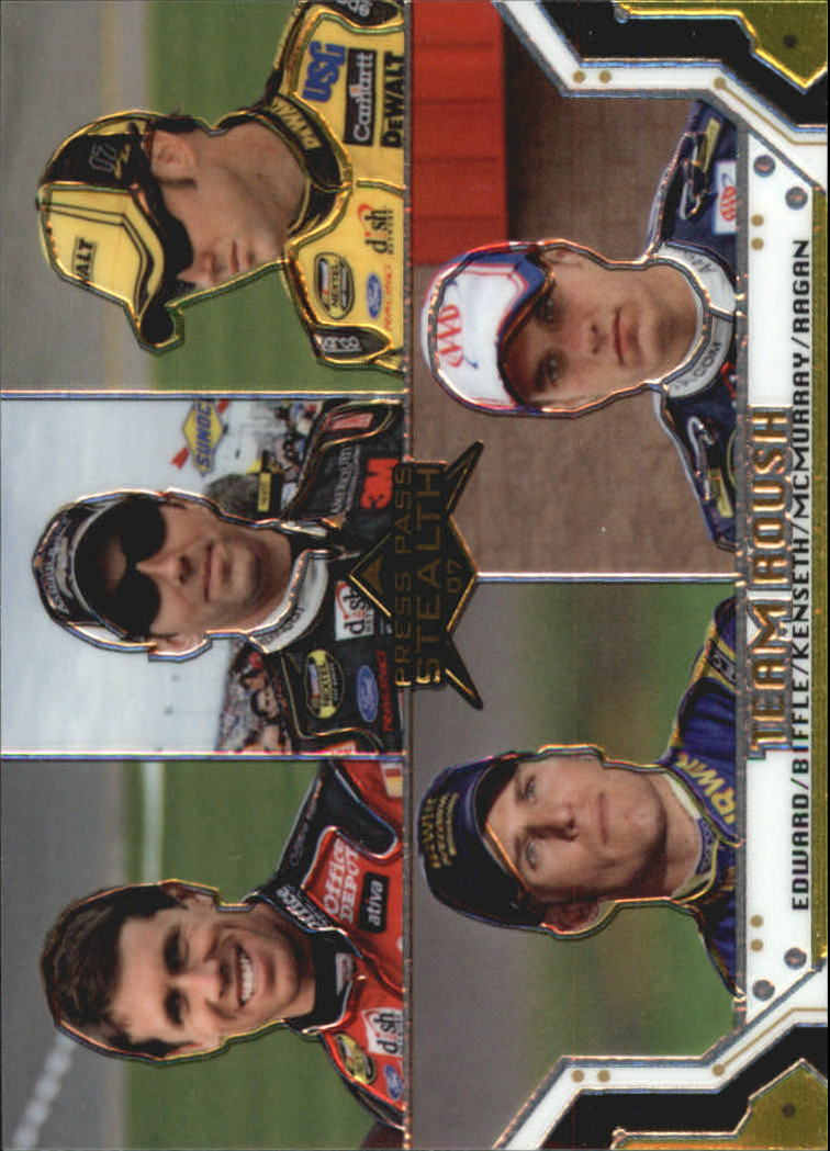 2007 Press Pass Stealth Chrome #69 Carl Edwards/Greg Biffle/Matt Kenseth/Jamie McMurray/David Ragan