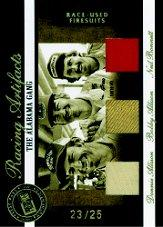 2007 Press Pass Legends Racing Artifacts Firesuit Gold #AGF Bobby Allison/Donnie Allison/Neil Bonnett/25