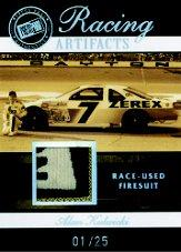 2007 Press Pass Legends Racing Artifacts Firesuit Patch #AKF Alan Kulwicki
