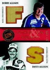 2007 Press Pass Legends Father and Son Firesuits Bronze #BADAF B.Allison/Do.Allison
