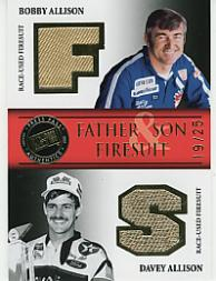 2007 Press Pass Legends Father and Son Firesuits Gold #BADAF B.Allison/Do.Allison