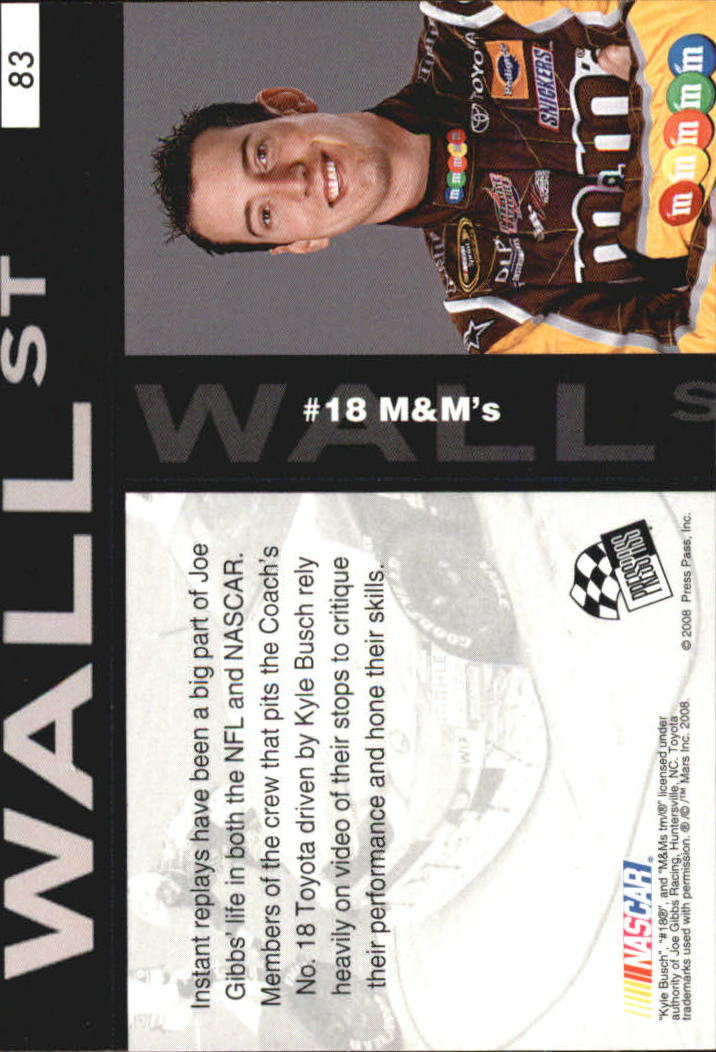 2008 Press Pass Speedway Gold #G83 Kyle Busch's Car WS