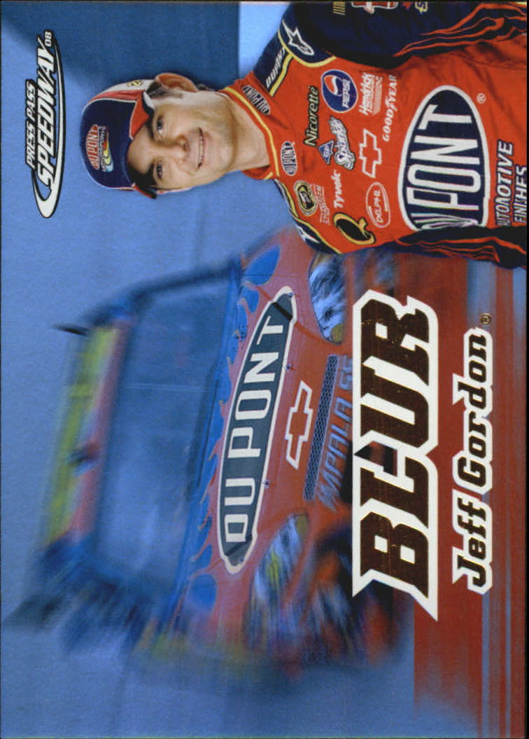 2008 Press Pass Speedway Blur #B5 Jeff Gordon