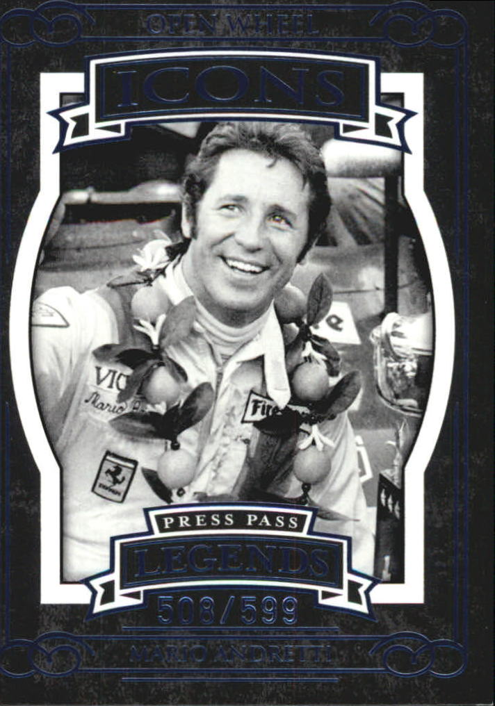 2008 Press Pass Legends Blue #57 Mario Andretti I