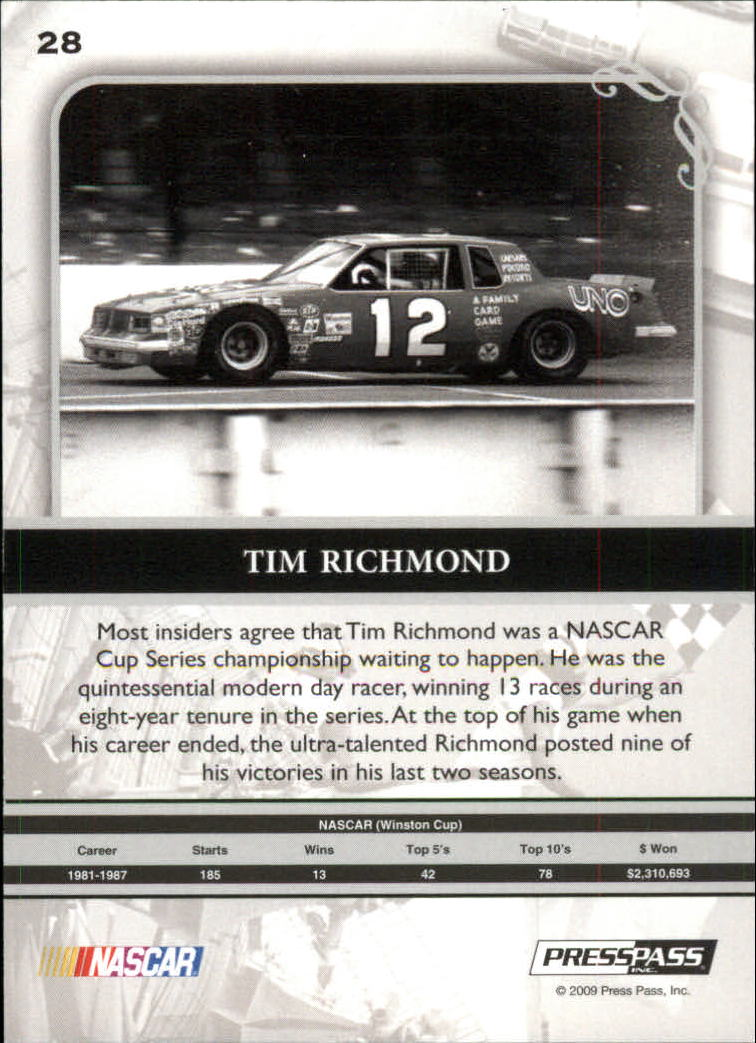 2009 Press Pass Legends Gold #28 Tim Richmond