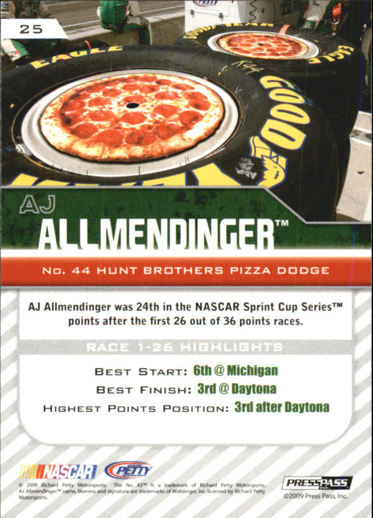 2010 Press Pass Blue #25 A.J. Allmendinger