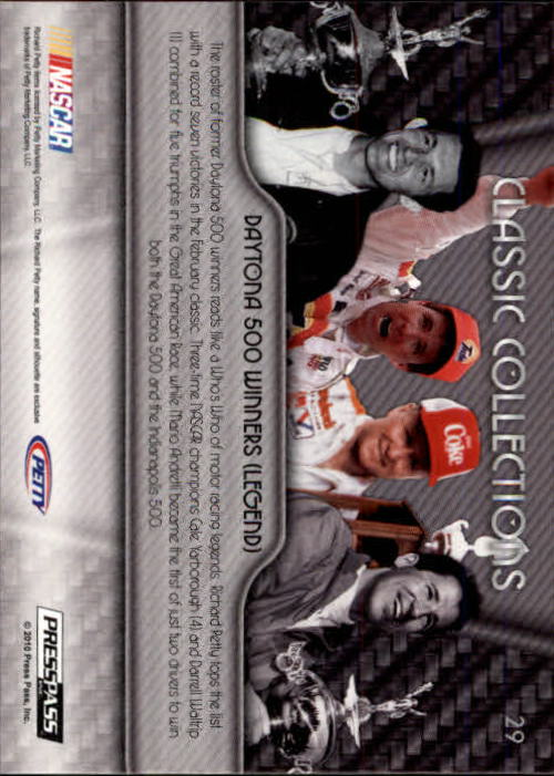 2010 Press Pass Showcase #29 Richard Petty/Mario Andretti/Darrell Waltrip/Cale Yarborough CC