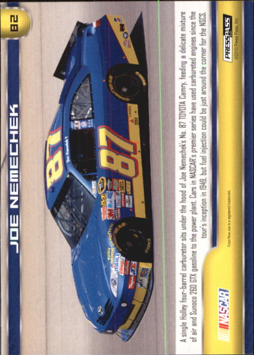 2011 Press Pass #82 Joe Nemechek's Car back image