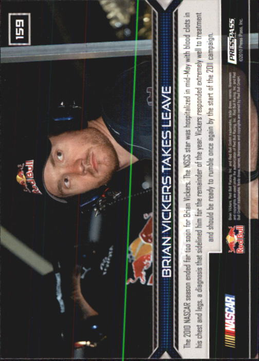 2011 Press Pass #159 Brian Vickers HL back image