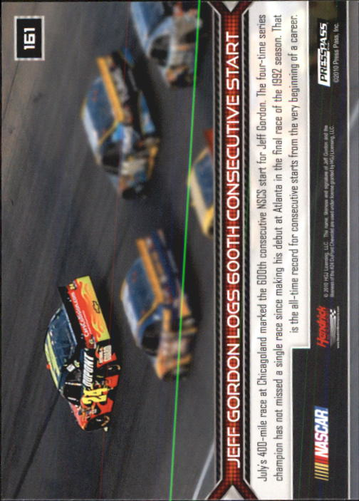 2011 Press Pass #161 Jeff Gordon HL back image