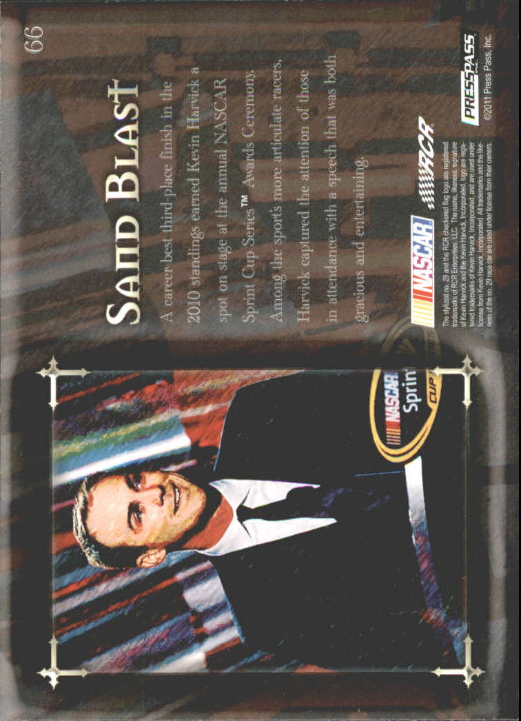 2011 Press Pass Eclipse #66 Kevin Harvick SB back image