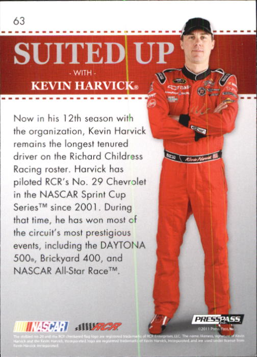 2011 Press Pass Premium #63 Kevin Harvick SU