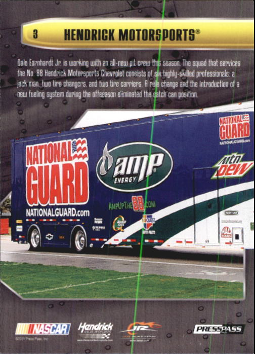 2011 Press Pass Stealth #3 Dale Earnhardt Jr.'s Crew back image