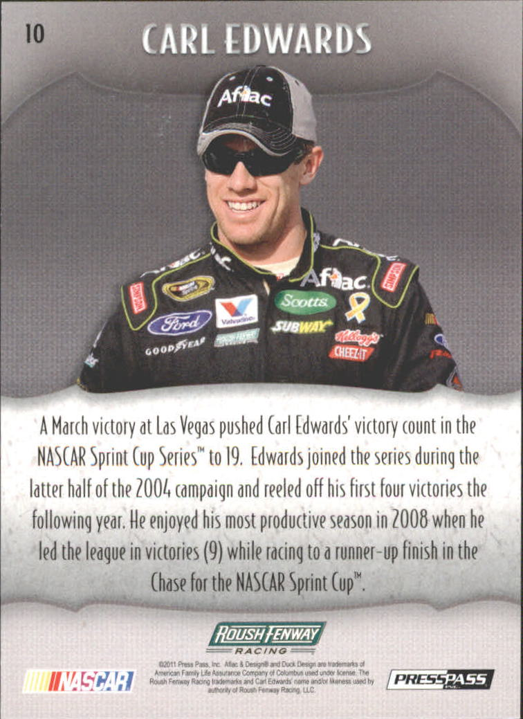 2011 Press Pass Showcase #10 Carl Edwards