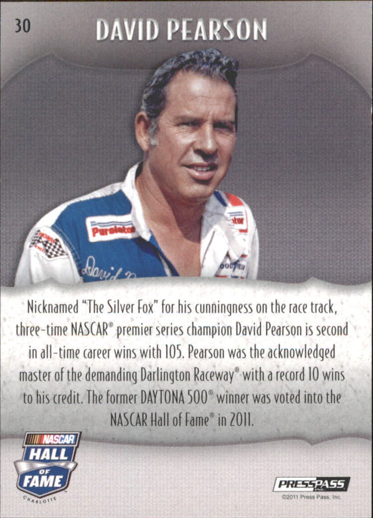 2011 Press Pass Showcase #30 David Pearson HOF