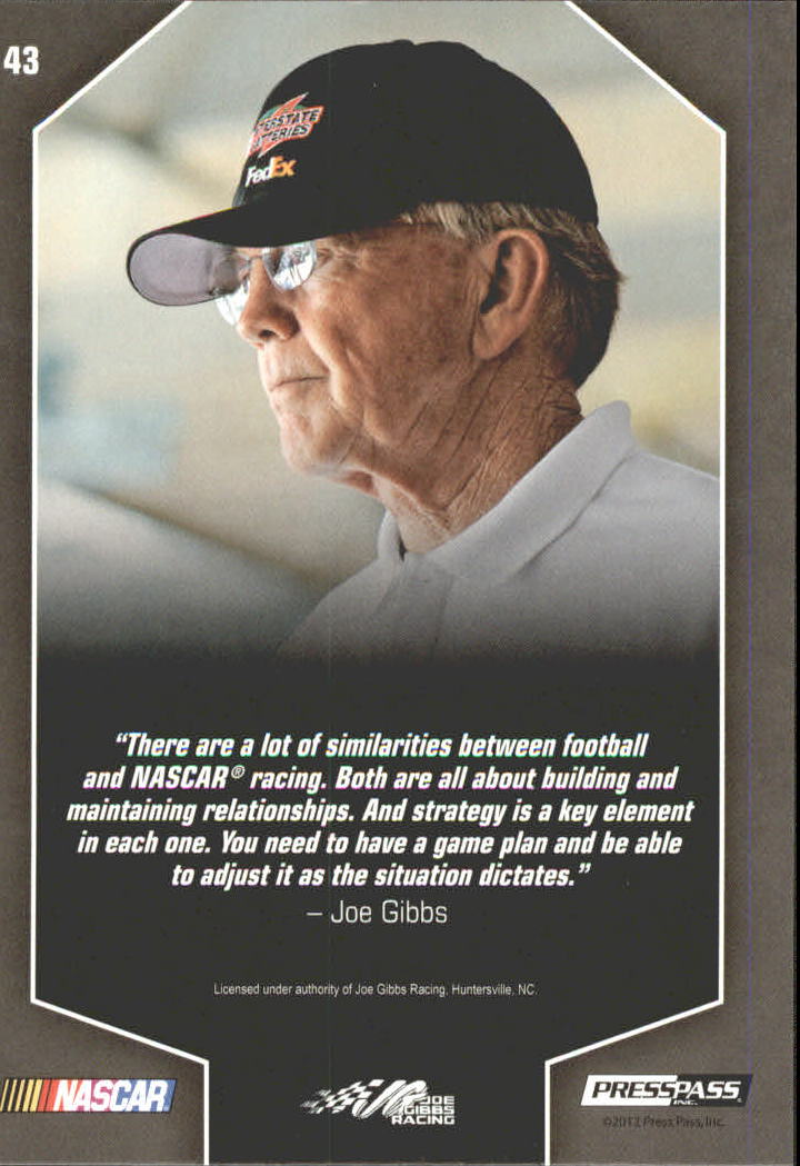 2012 Total Memorabilia #43 Joe Gibbs OWN back image