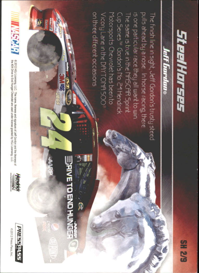 2012 Press Pass Ignite Steel Horses #SH2 Jeff Gordon's Car back image