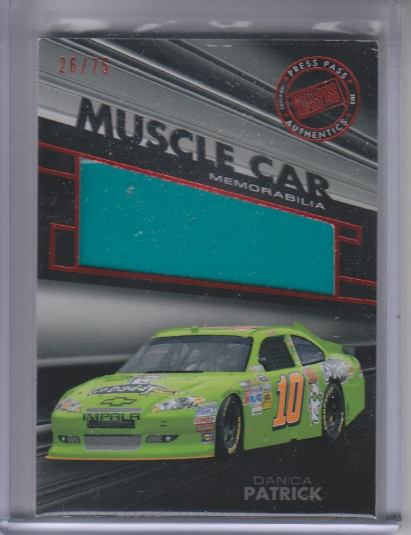 2012 Press Pass Redline Muscle Car Sheet Metal Red #MCDP1 Danica Patrick Cup/75