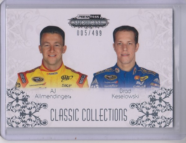 2012 Press Pass Showcase #58 Brad Keselowski CC/AJ Allmendinger