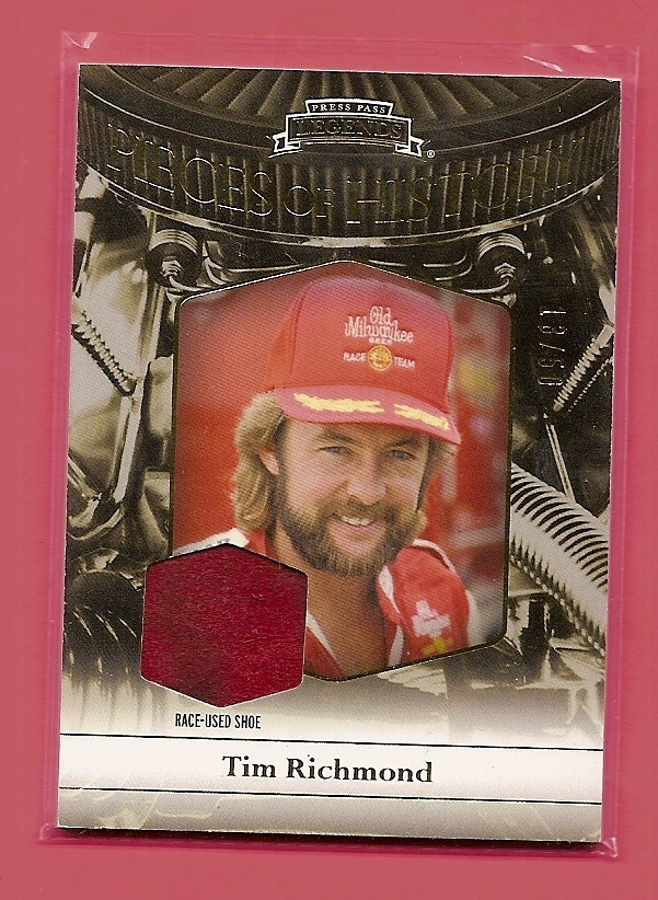 2012 Press Pass Legends Pieces of History Memorabilia Gold #TR1 Tim Richmond Shoe/50