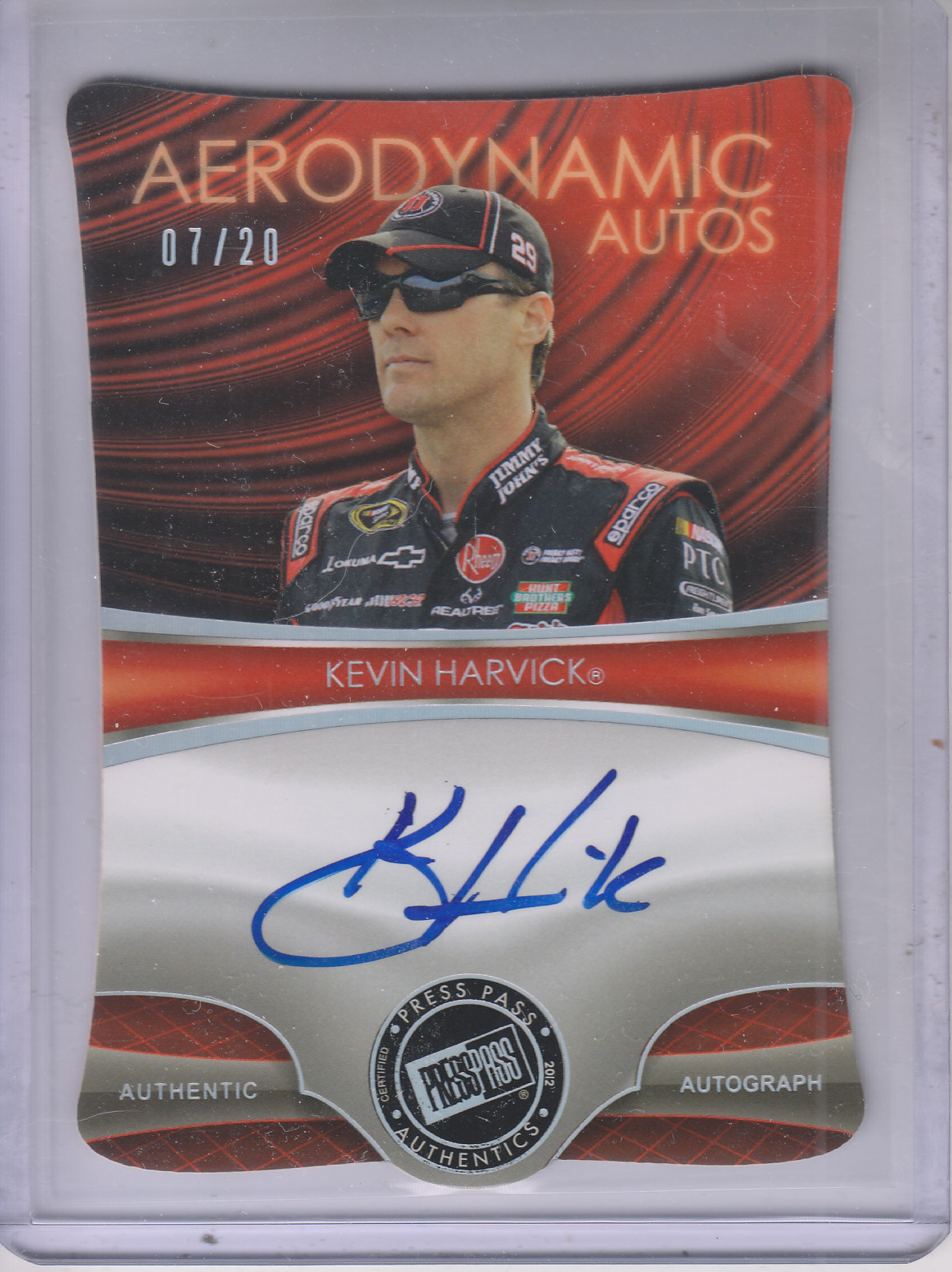 2013 Press Pass Aerodynamic Autographs Holofoil #KH Kevin Harvick/20