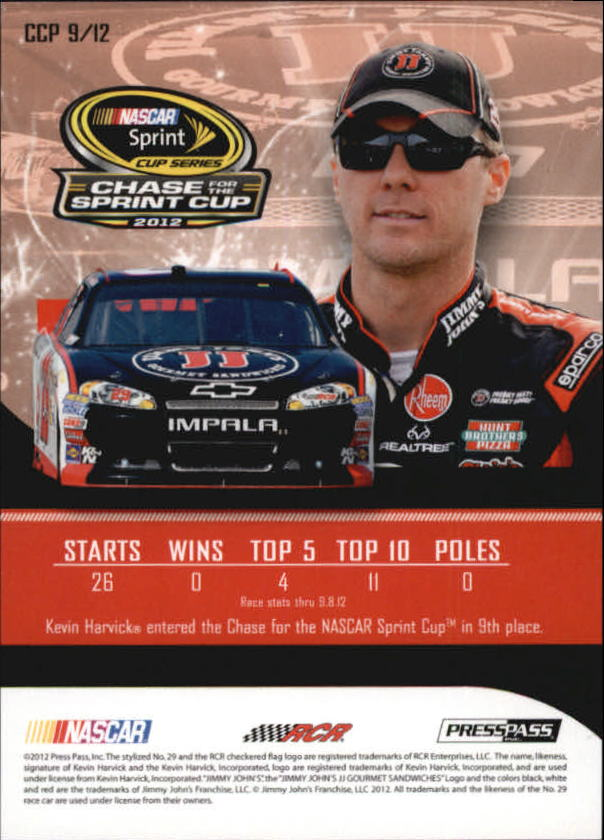 2012 Press Pass Cup Chase Prizes #CCP9 Kevin Harvick