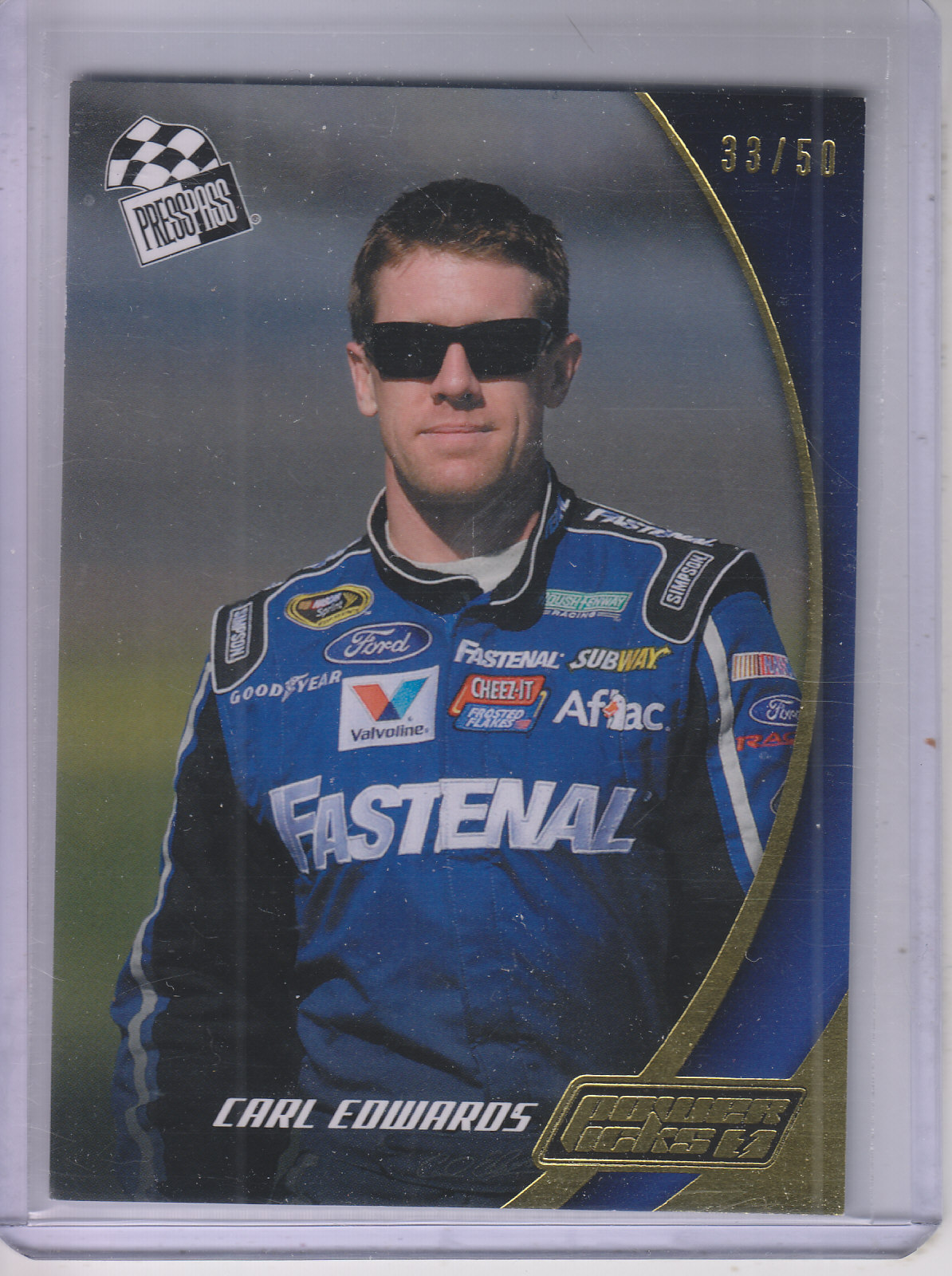 2013 Press Pass Power Picks Gold #34 Carl Edwards