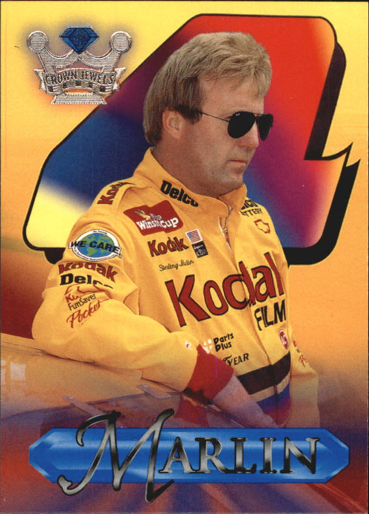 1996 Crown Jewels Elite Retail Blue #5 Sterling Marlin