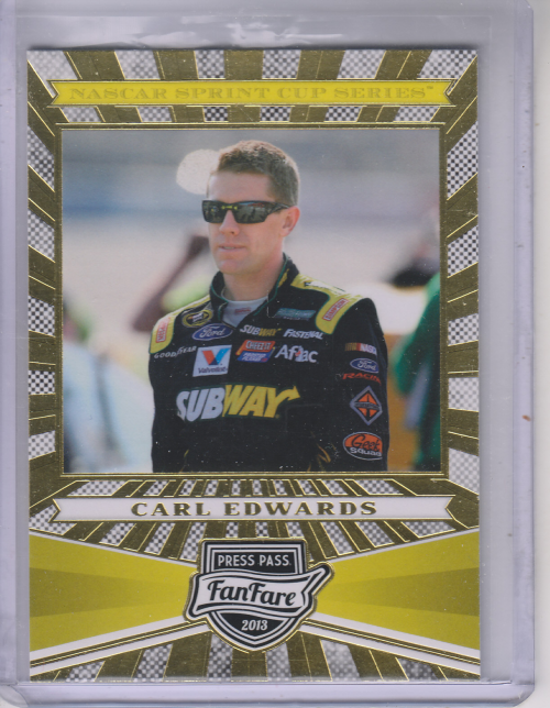 2013 Press Pass Fanfare #17 Carl Edwards