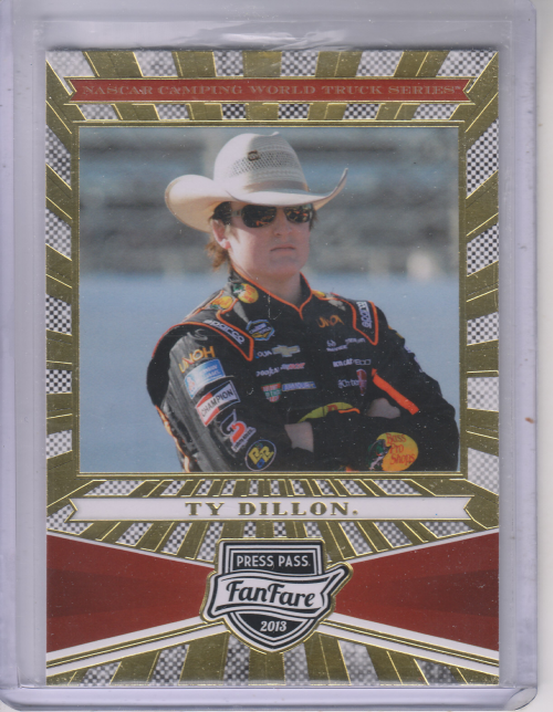 2013 Press Pass Fanfare #82 Ty Dillon CWTS