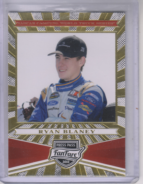2013 Press Pass Fanfare #78 Ryan Blaney CWTS