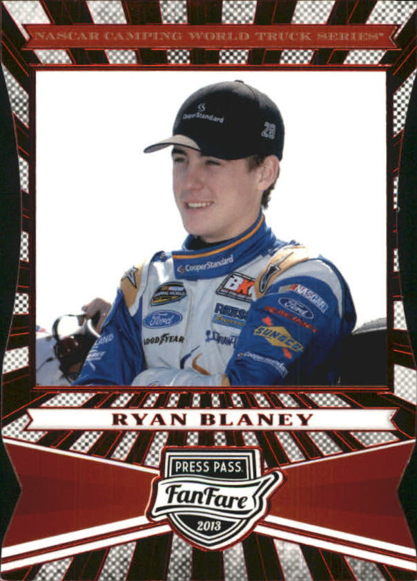 2013 Press Pass Fanfare Red Foil Die Cuts #78 Ryan Blaney CWTS