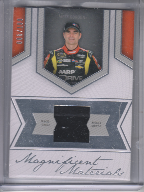 2013 Press Pass Fanfare Magnificent Materials Silver #JG Jeff Gordon/199