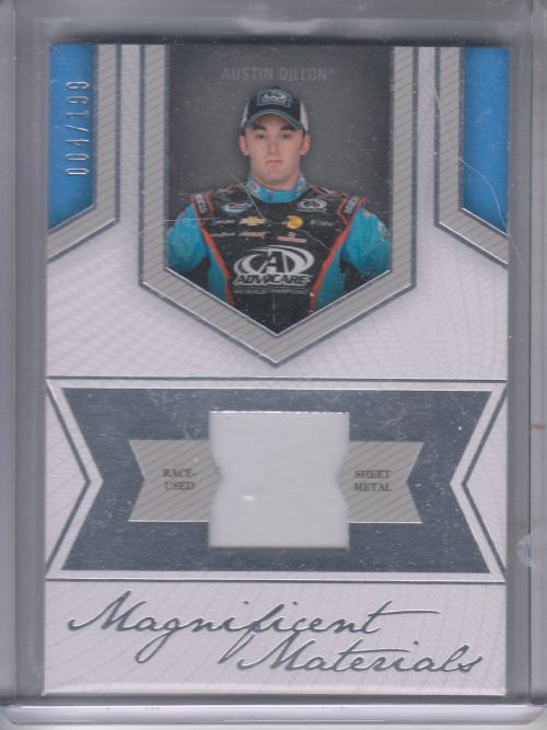 2013 Press Pass Fanfare Magnificent Materials Silver #AD Austin Dillon/199