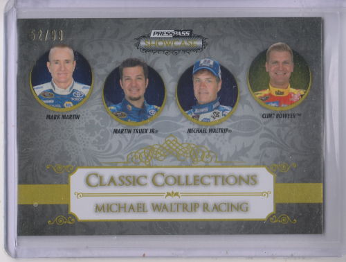 2013 Press Pass Showcase Gold #60 Michael Waltrip Racing CC/Mark Martin/Martin Truex/Michael Waltrip/Clint Bowyer