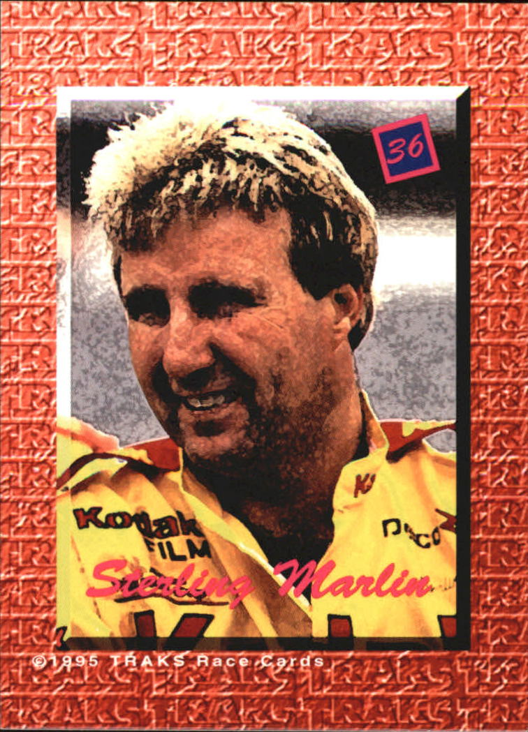 1995 Traks 5th Anniversary Red #36 Sterling Marlin