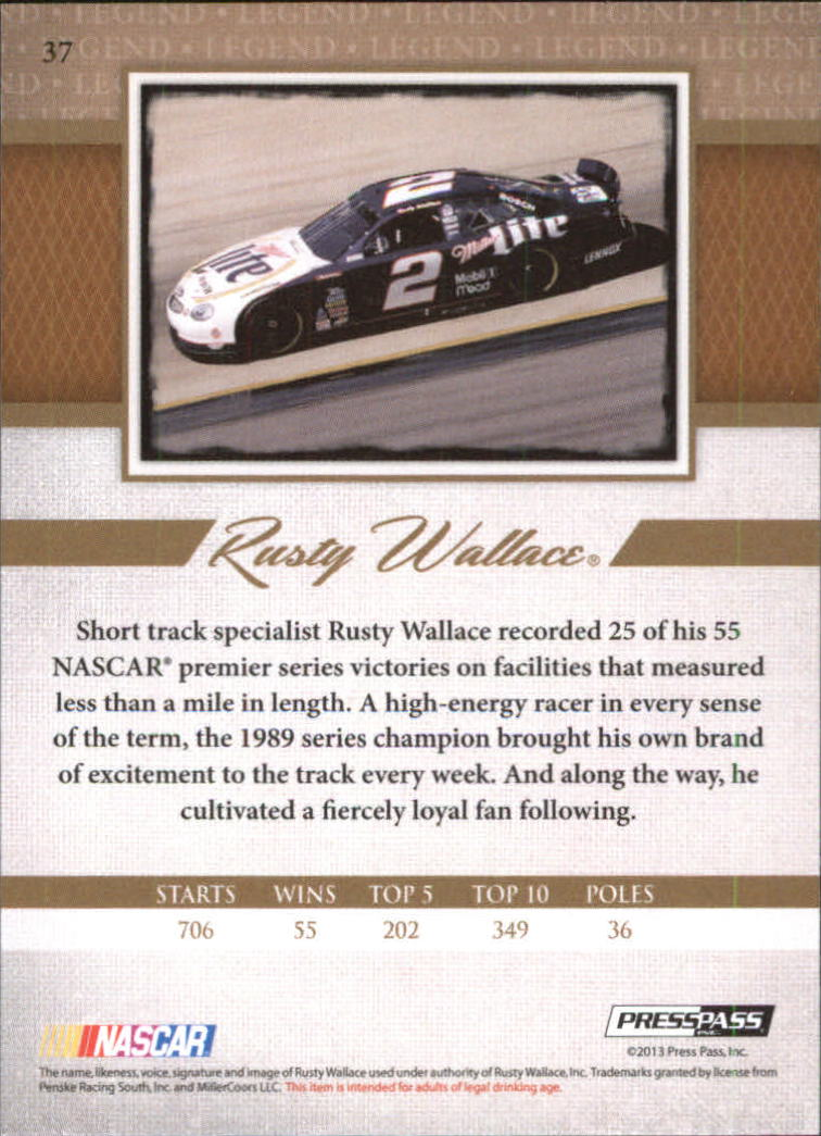 2013 Press Pass Legends #37 Rusty Wallace