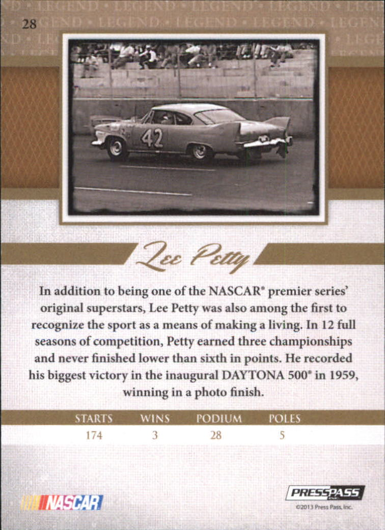 2013 Press Pass Legends Gold #28 Lee Petty