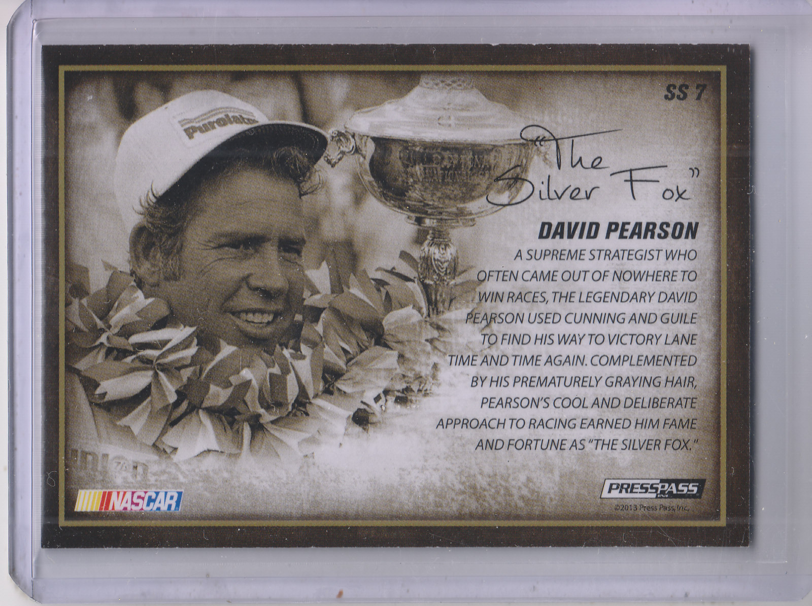 2013 Press Pass Legends Signature Style #SS7 David Pearson SP