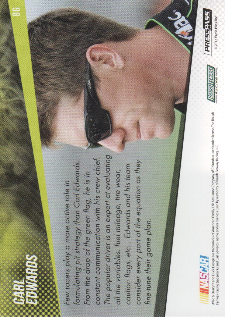 2014 Press Pass #86 Carl Edwards HS