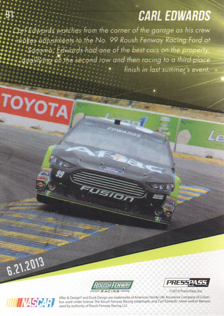 2014 Press Pass #91 Carl Edwards SS