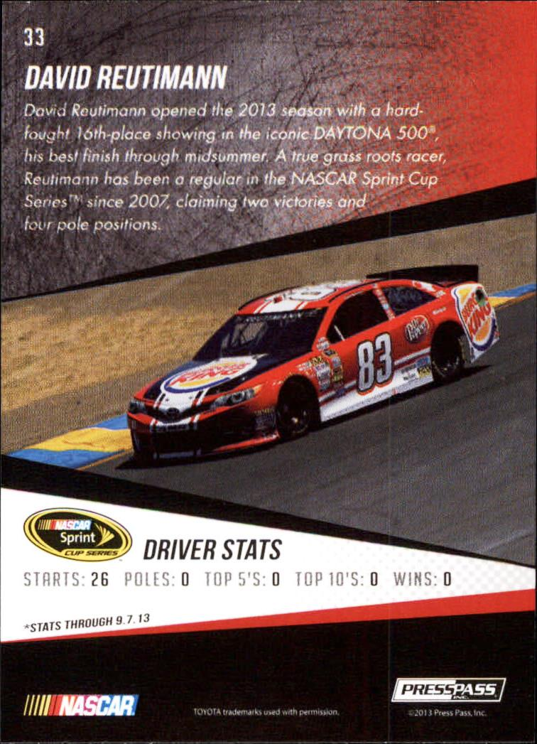 2014 Press Pass Gold #33 David Reutimann