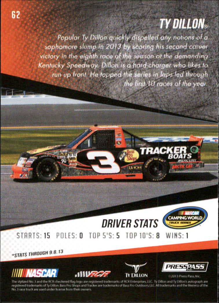 2014 Press Pass Gold #62 Ty Dillon CWD